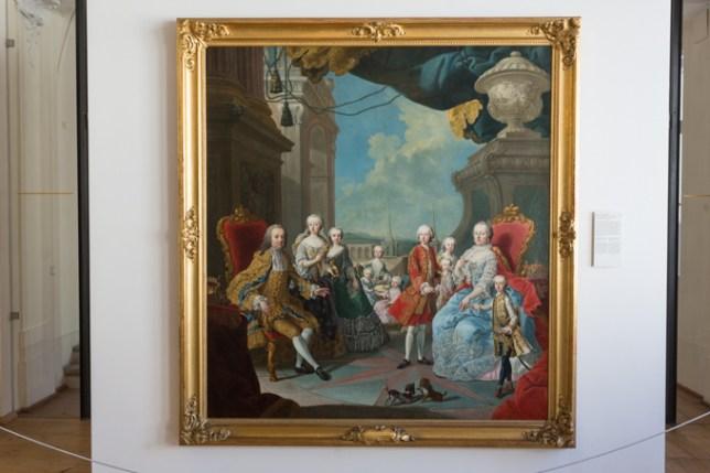 Retrato familiar de la emperatriz María Teresa I de Austria, obra de Martin van Meytens.