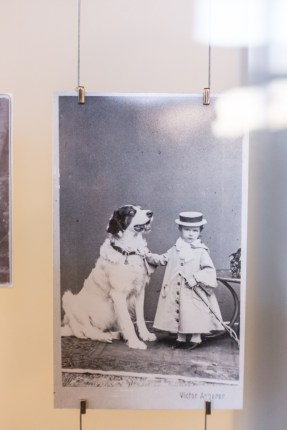 Sissi con uno de los perros de su casa en Hungria.