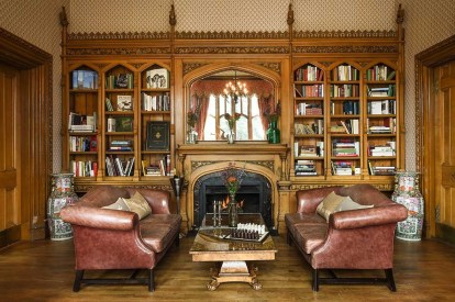 Biblioteca. Foto: The Oakley Court.