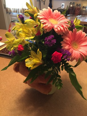 Beautiful flowers from loved ones.