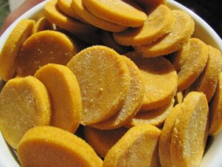 (Wheat-Free) Peanut Butter Pumpkin Dog Treat/Biscuit Recipe