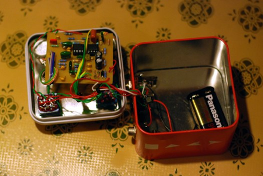 diy effects homemade mkc1 mini klon pedal dog is blue. Black Bedroom Furniture Sets. Home Design Ideas
