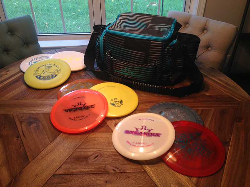 First Raffle Winner Prize Pack – DD Soldier Disc Golf bag with 9 discs included!