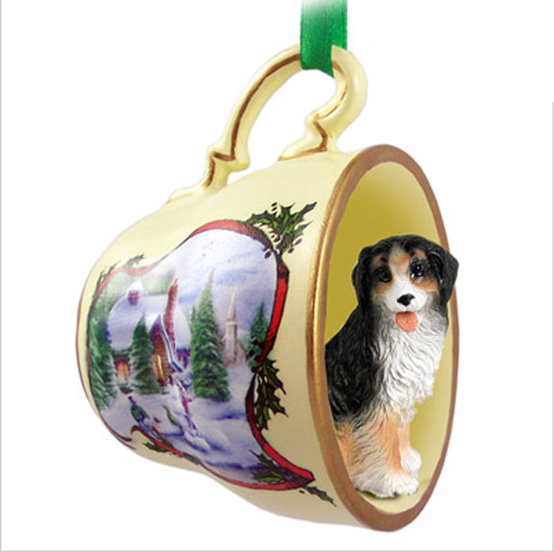 Bernese Mountain Dog Christmas Holiday Teacup Ornament