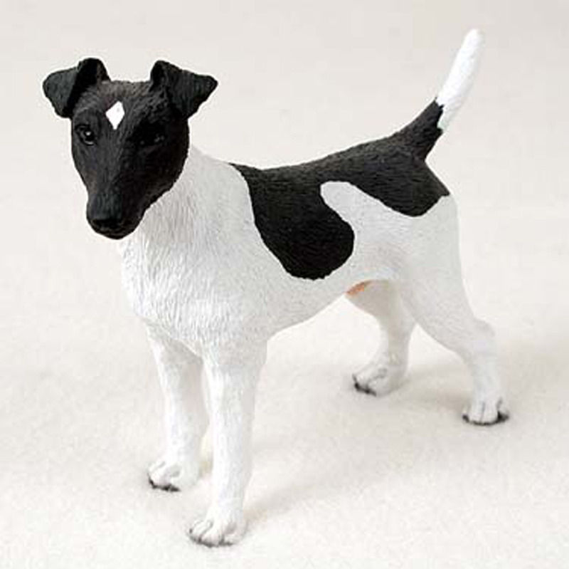 Fox Terrier Hand Painted Collectible Dog Figurine Statue