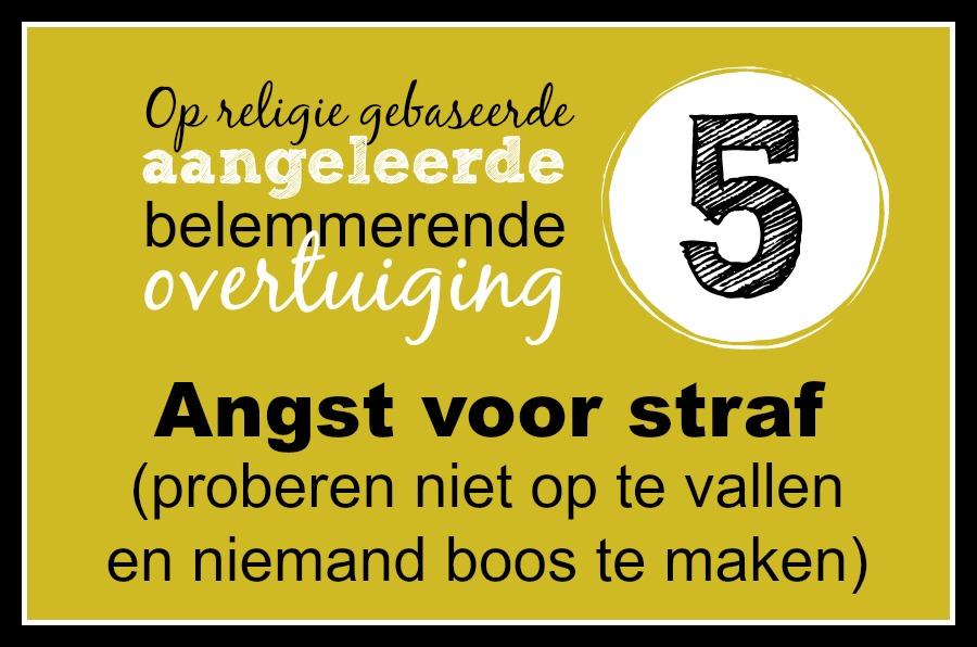 5. Angst voor straf