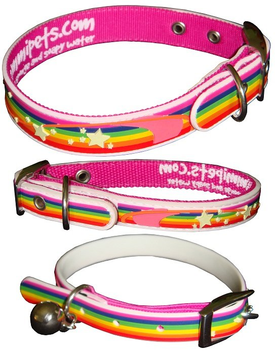 Gummi Collars - Pink Rainbow