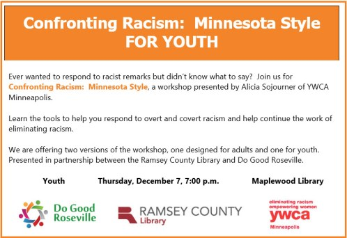 Websiste Confronting Racism Youth