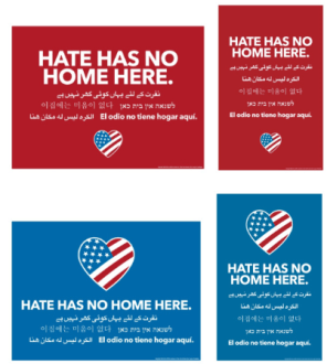 sign hate has no home