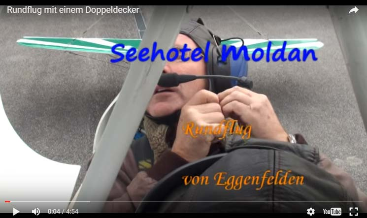 Video-Rundflug-Doppeldecker Seehotel Moldan