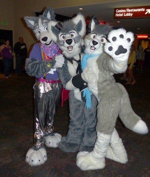 Me, Sakura, and Mercury at Biggest Little Fur Con 2013.