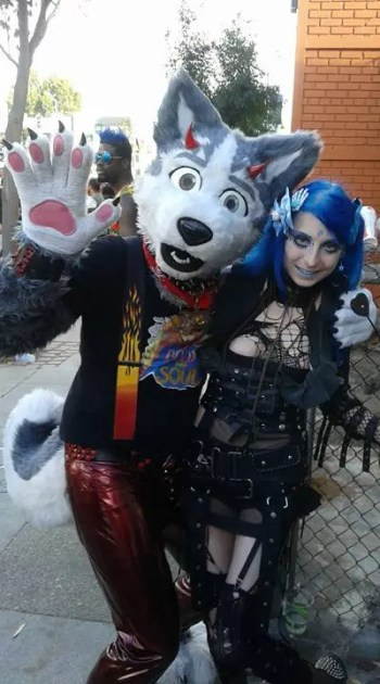 Furry mischief with stylish goth friend Carmen.