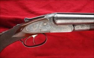 12g Lefever EE double barrel, side by side caption