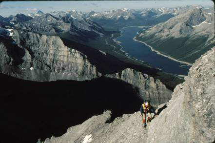 Mt Lougheed traverse Jul 22 89-8