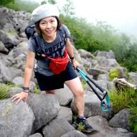 乙部晴佳さん:コロンビアスポーツウェアジャパン商品本部コロンビアアパレル商品部。山が好きでコロンビアに入社、そこでトレイルランニングと出会うことに。中学生の頃は陸上部だったものの「ロードを走るのは苦手、でも山を登るのは好き」。写真は八ヶ岳を登った時のもの。