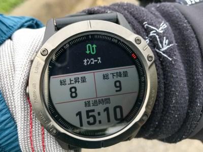 コースに戻ると再びアラート音とともに「オンコース」と表示される。