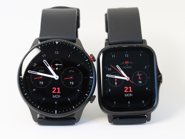 Amazfit GTR 2(左)とGTS 2