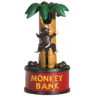 Cast Iron Monkey Up a Tree Musical Bank