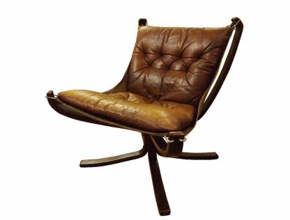 Low Back Leather Falcon Chair