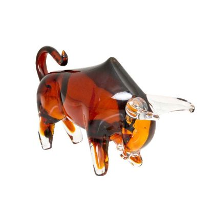 Art Glass Bull Large