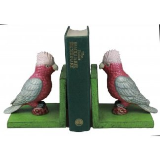 Cast Iron Galah Bookends