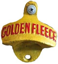 Cast Iron Golden Fleece Bottle Opener