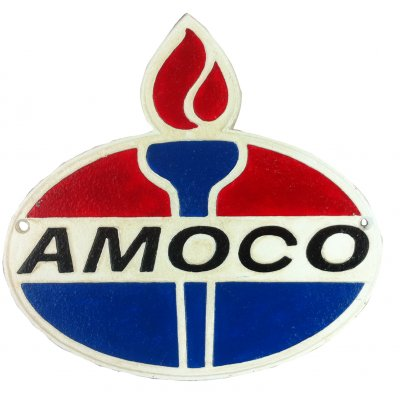 Cast Iron Amoco Sign