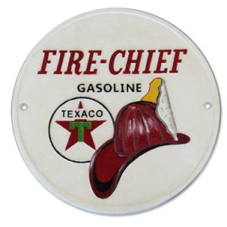 Cast Iron Texaco Fire Chief Sign