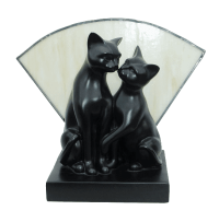 Kissing Cats Lamp