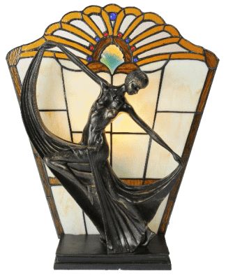 Leadlight Art Deco Lamp
