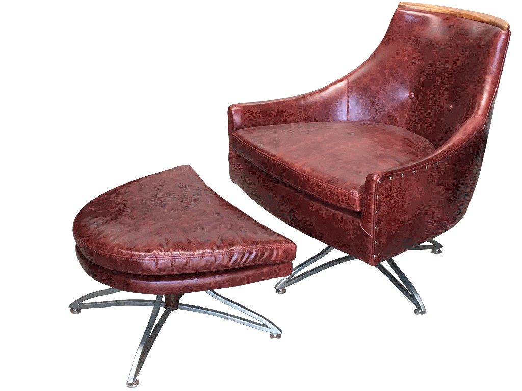 Surprising Kroehler Swivel Chair And Ottoman Sold Dogs Republic Machost Co Dining Chair Design Ideas Machostcouk