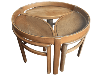 English Teak Nest of Tables