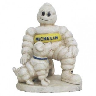 Cast Iron Michelin Man with Dog