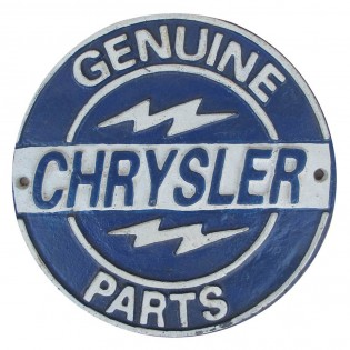 Cast Iron Chrysler Sign