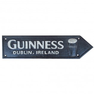 Cast Iron Guinness Road Sign
