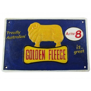 Cast Iron Golden Fleece Aactiv8 Sign