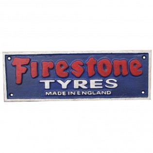 Cast Iron Firestone Tyres Sign