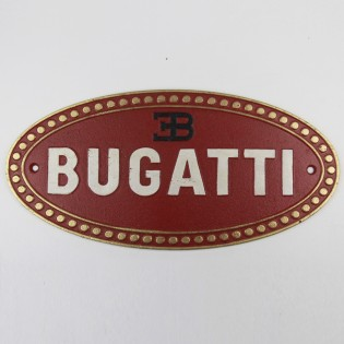 Cast Iron Bugatti Sign