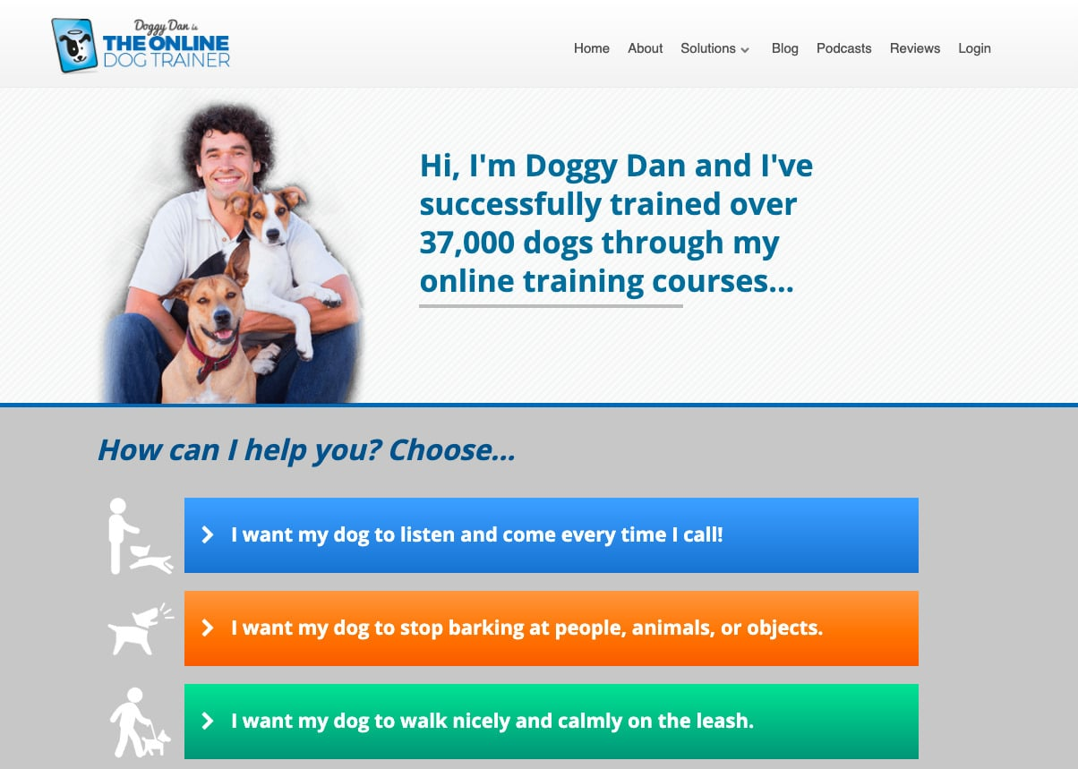 doggy dan's online dog training course - doggy dan website home page