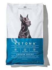 Bag of Ketonatural dog food, Ketona