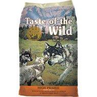 bag of taste of the wild High Prairie dog food.