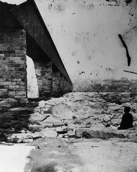 Richmond-Petersburg Railroad Bridge, Richmond, Virginia. Date: possibly 1871. Photographer: D. H. Anderson. Citation: Cook Collection, Valentine Richmond History Center.