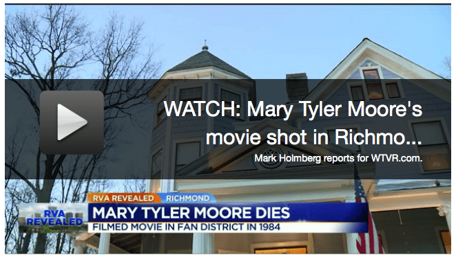 Mark Holmberg Does Story On Mary Tyler Moore Movie Filmed In Manchester