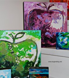 Bonnie Dorgelo apple paintings