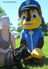Paws Patrol Mascot at Dawg Dayz of Summer event