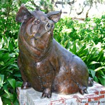 pig sculpture at Brookgreen Gardens Myrtle Beach South Carolina
