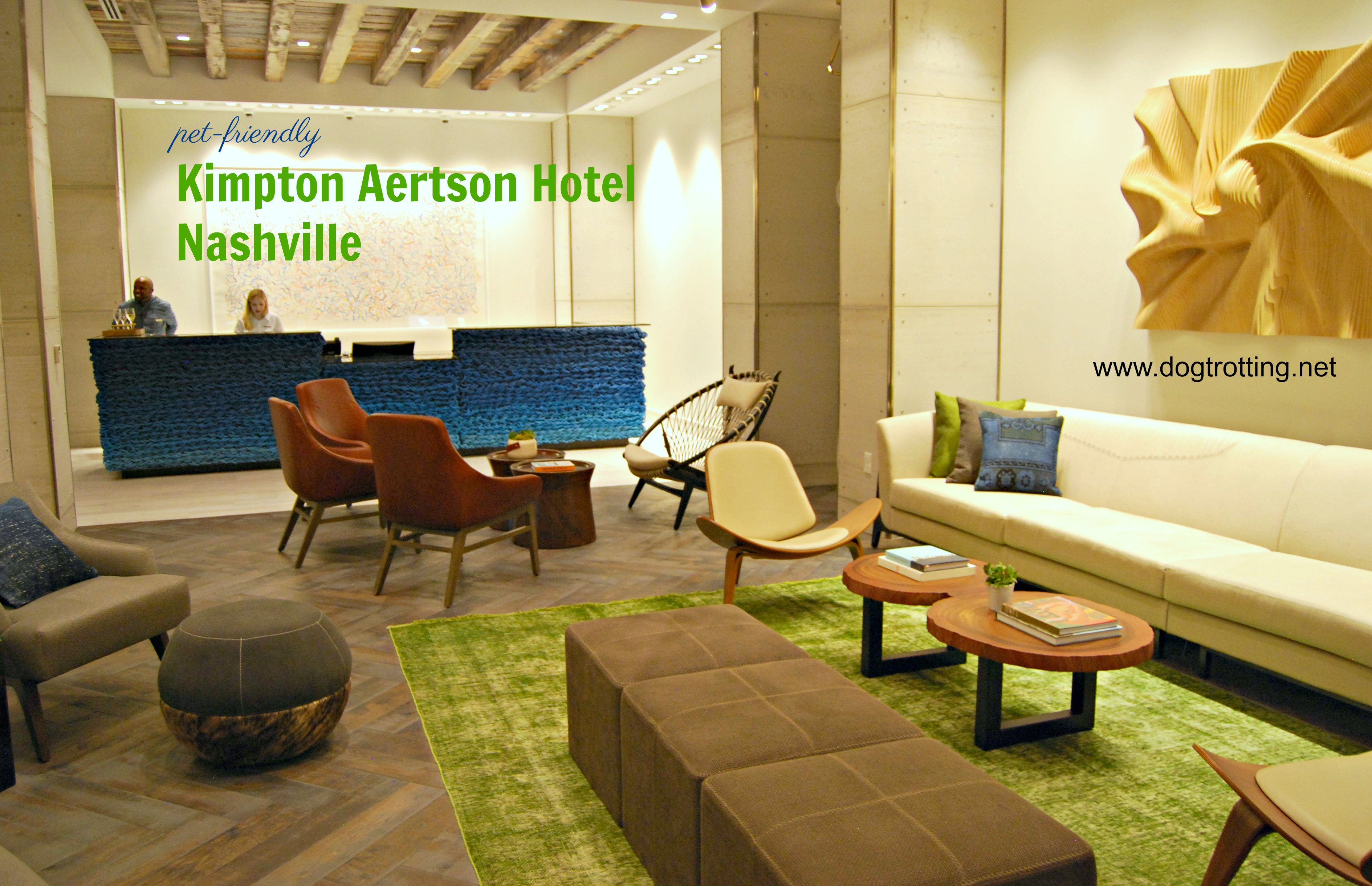 Lobby of the Kimpton Aertson Hotel, Nashville