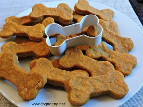 dog pumpkin and peanut butter cookies
