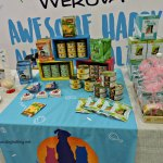 Werunva pet food table at Dogs 4 Youth pet event, Grimsby, Ontario