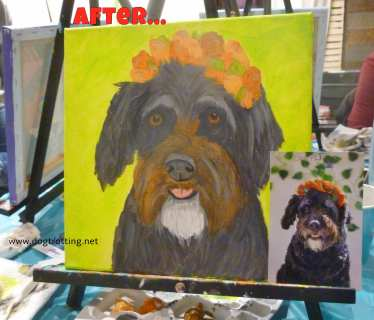 dog painting after